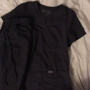 Dark grey scrub set